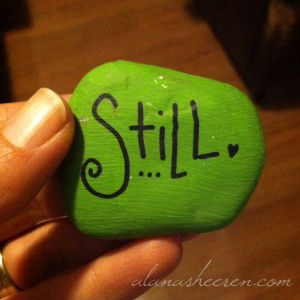 well-loved rock courtesy of gifted intuitive reader Danette Spizzirri