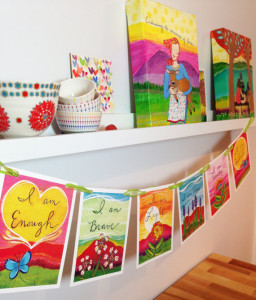 "Lori Portka's ""I Am"" Prayer Flags"