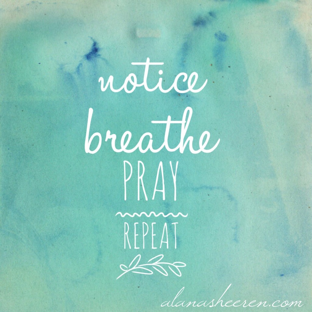 Notice, Breath, Pray