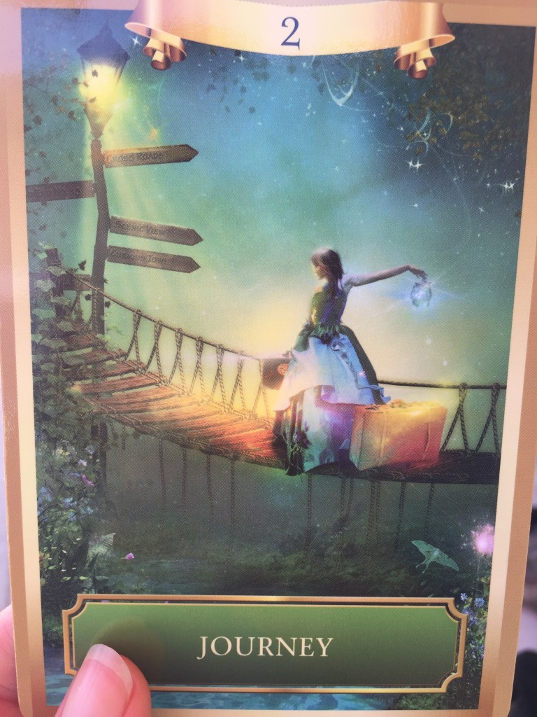 From the Energy Oracle Cards deck by Sandra Anne Taylor